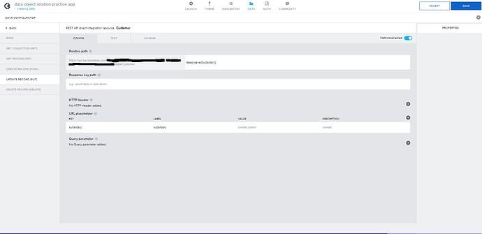 appgyver data configurator PUT