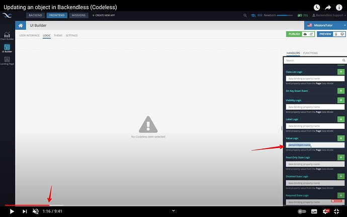 (10) Updating an object in Backendless (Codeless) - YouTube 2021-09-27 10-01-45