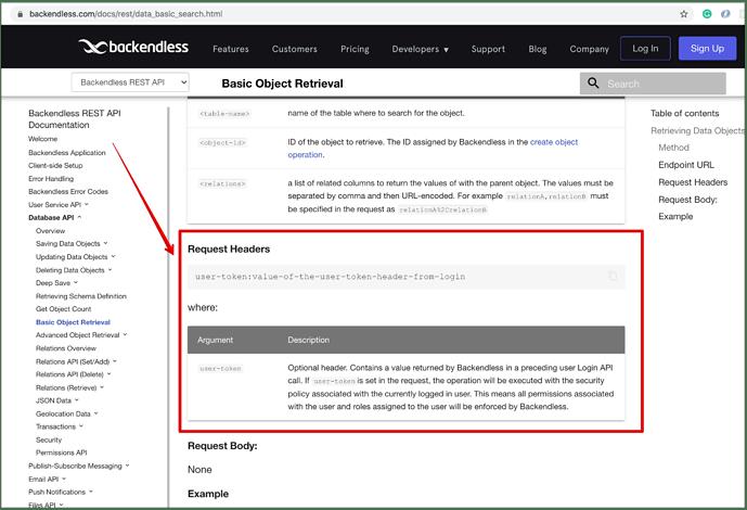 Basic Object Retrieval - Backendless REST API Documentation 2021-07-07 23-58-26