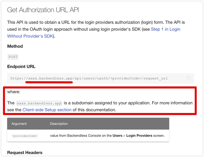 Social and OAuth2 Logins - Backendless REST API Documentation 2021-07-16 21-34-46