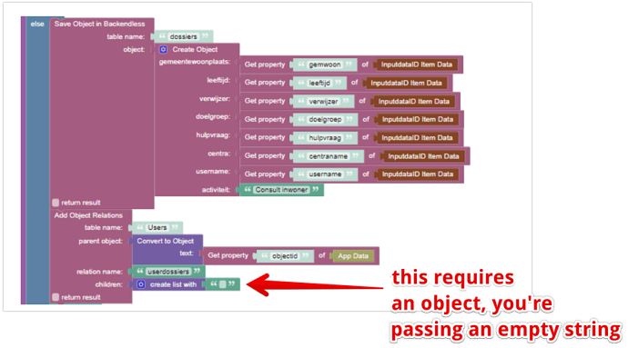 How to set codeless one to many relations - General - Backendless Support 2021-07-12 16-59-23