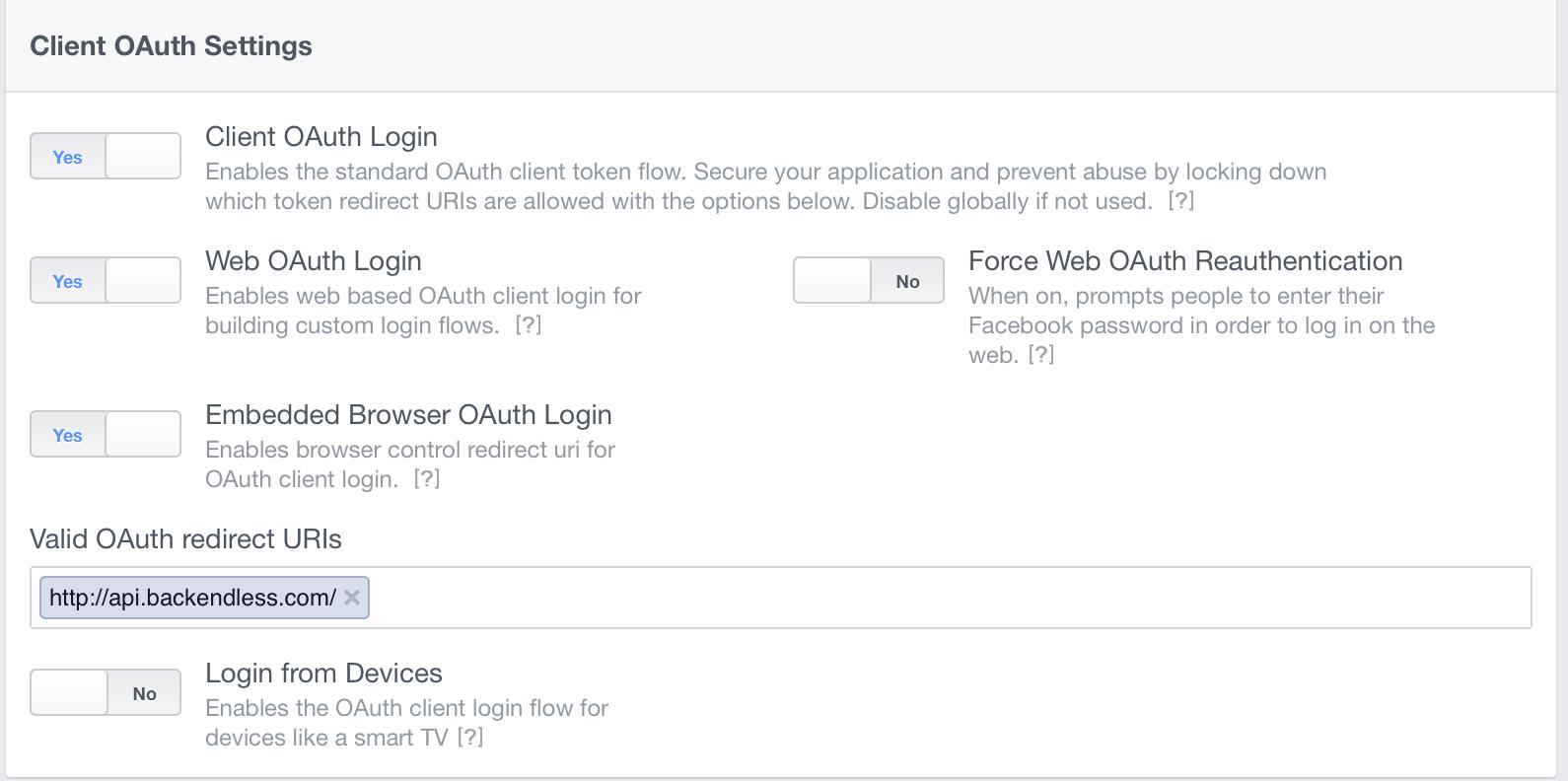 Facebook URL blocked ? - iOS - Backendless Support Forum