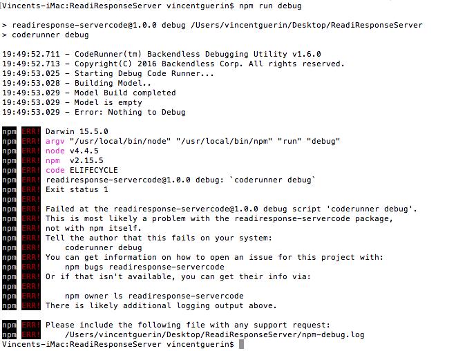 JS CodeRunner - npm debug error - General - Backendless Support Forum