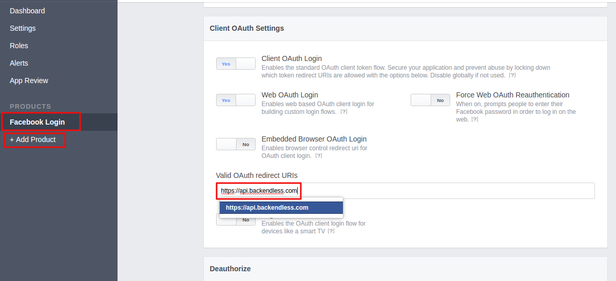 Error Logging in with Facebook - General - Backendless
